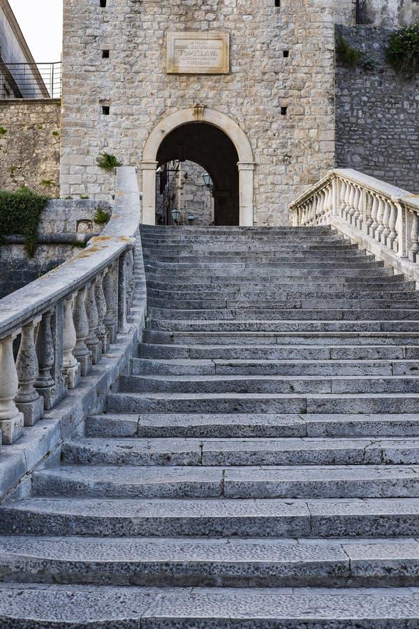 Île de Korcula, Dalmatie Croatie image stock