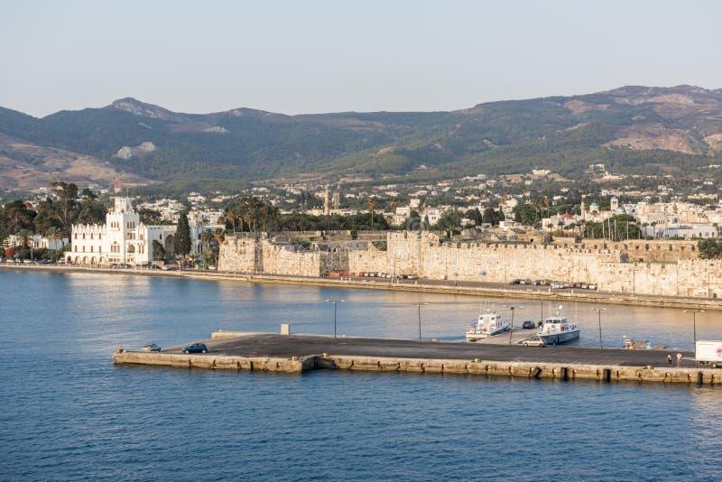 Île de Kos, port images libres de droits