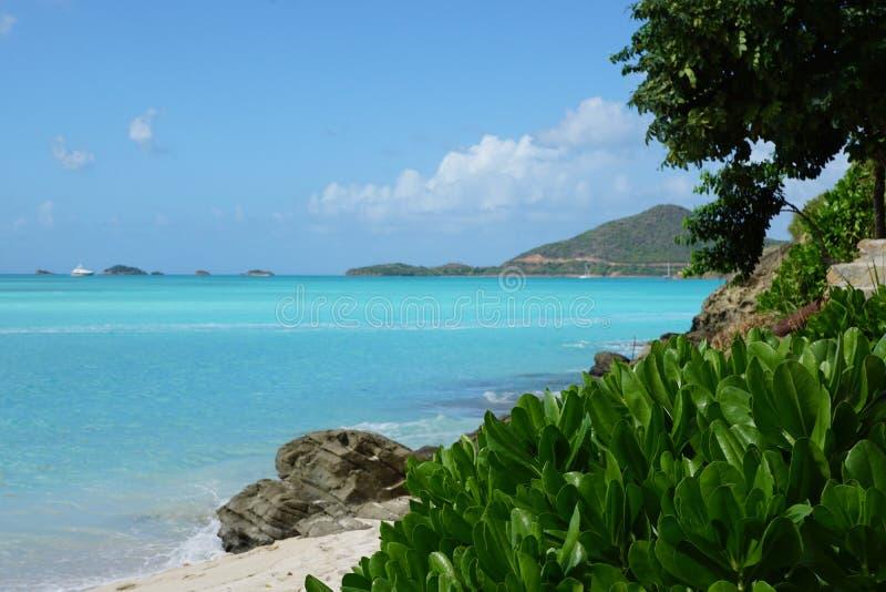 Île de l'Antigua photo stock