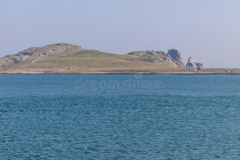 Île de l'oeil de l'Irlande prise de Howth images stock