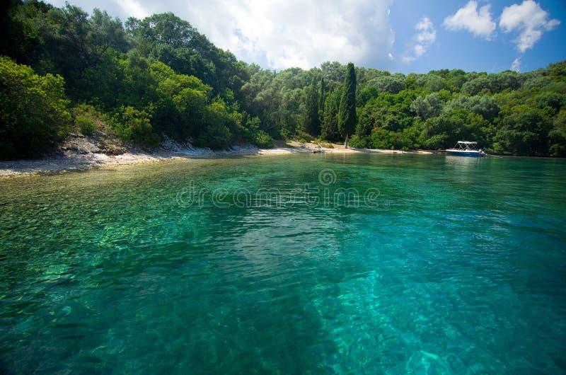 Île de la Grèce - de Leucade - du Meganisi photographie stock libre de droits