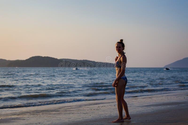 Île de Langkawi de plage de Pantai Cenang image stock