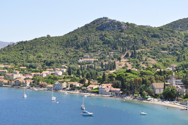 Île de Lopud en Croatie photos libres de droits