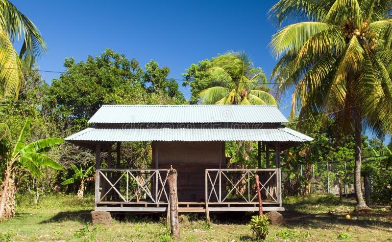 Île de maïs de toit en métal de restaurant grande Nicaragua photos libres de droits