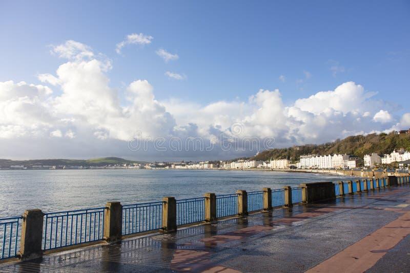 Île de Man de Douglas Bay et de promenade photo stock