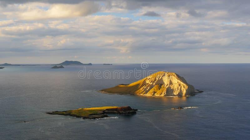 Île de Manana outre du littoral d'Oahu, Hawaï image libre de droits