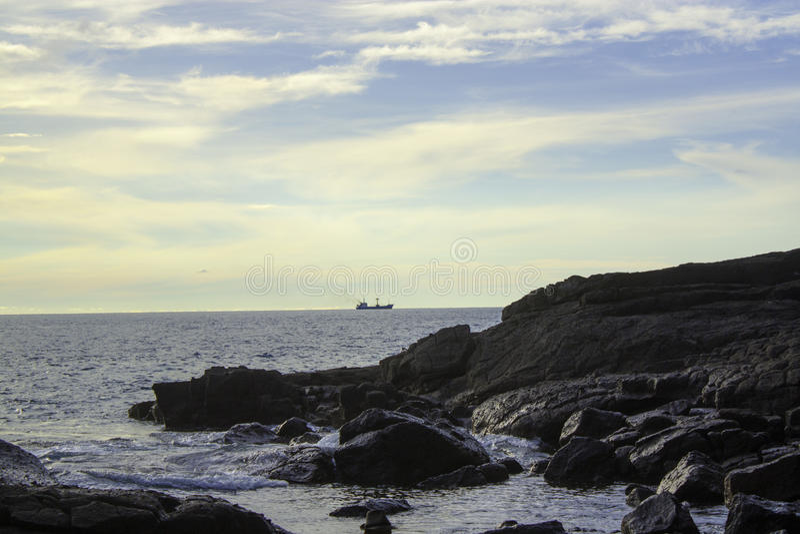 Île de Marak des roches images stock