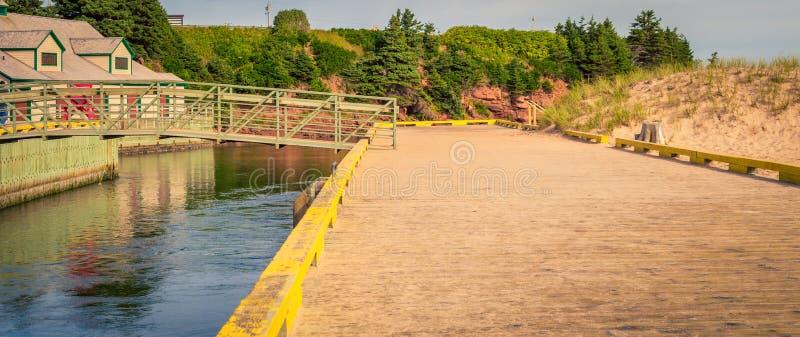 Île de marche de prince Edward de pont photographie stock libre de droits
