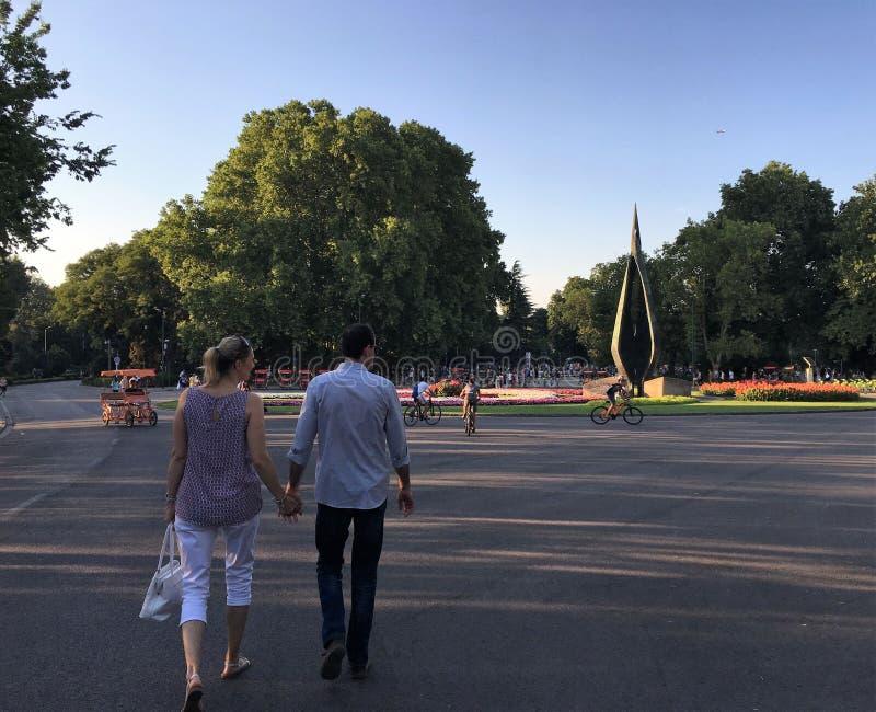 Île de Margit, Budapest image libre de droits