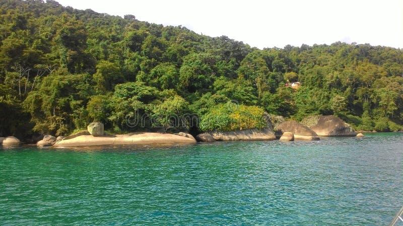 Île de mer - Paraty - RJ photos stock