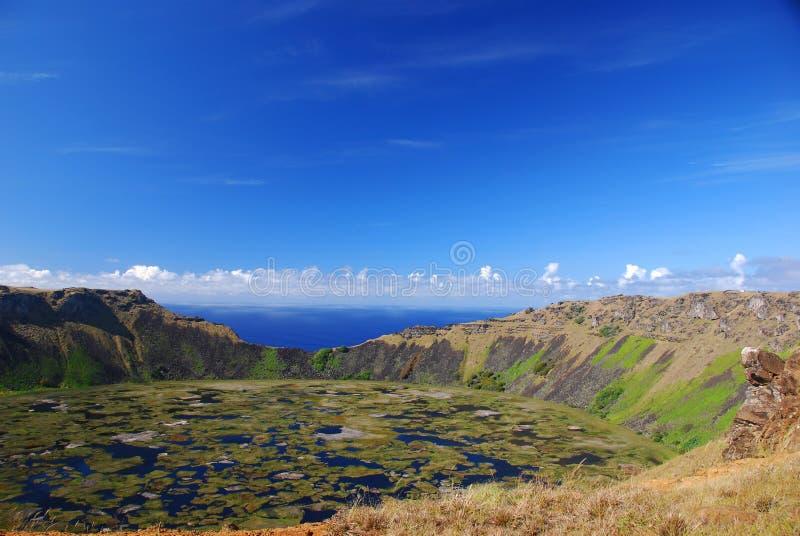 Île de milliers d'UCI Pâques de Rano, Chili photographie stock