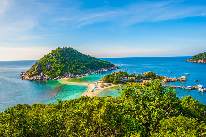 Île de Nangyuan thaïlandaise photos stock