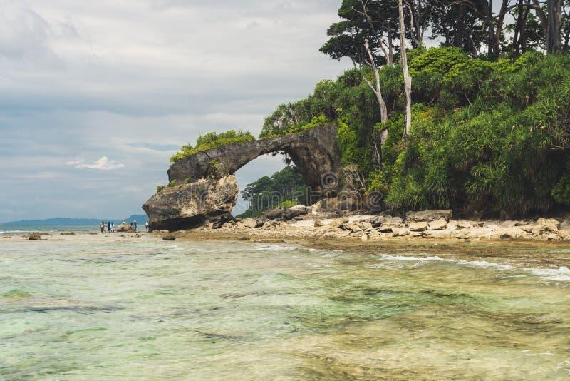 Île de Neil à l'archipel d'Andaman et de Nicobar, photo libre de droits