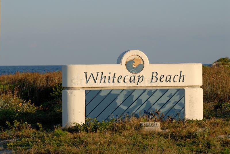 Île de Padre de plage de Whitecap images stock