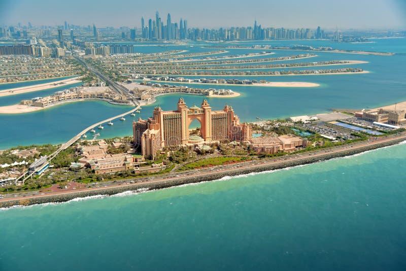 Île de paume à Dubaï, vue aérienne photo stock