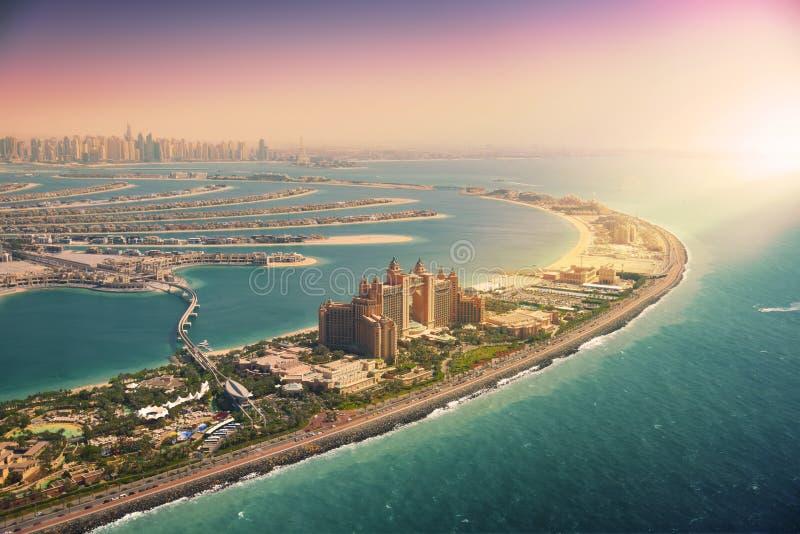 Île de paume à Dubaï, vue aérienne image libre de droits