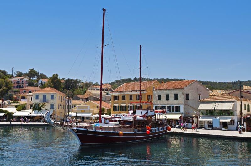 Île de Paxos en Grèce photos libres de droits