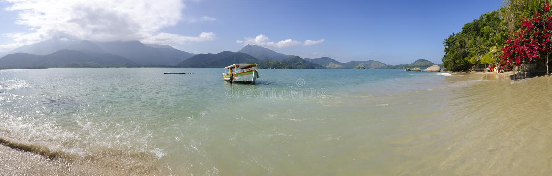 Île de Pelado dans Paraty photos libres de droits