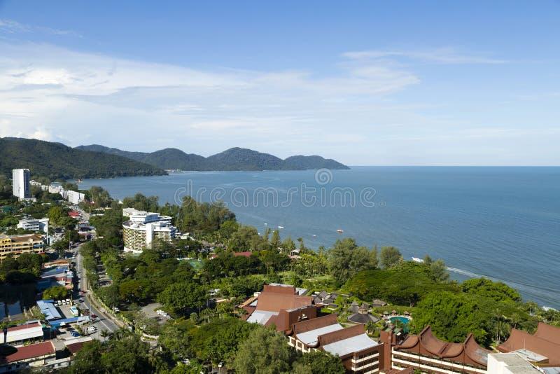 Île de Penang de plage de Batu Ferringhi photo stock