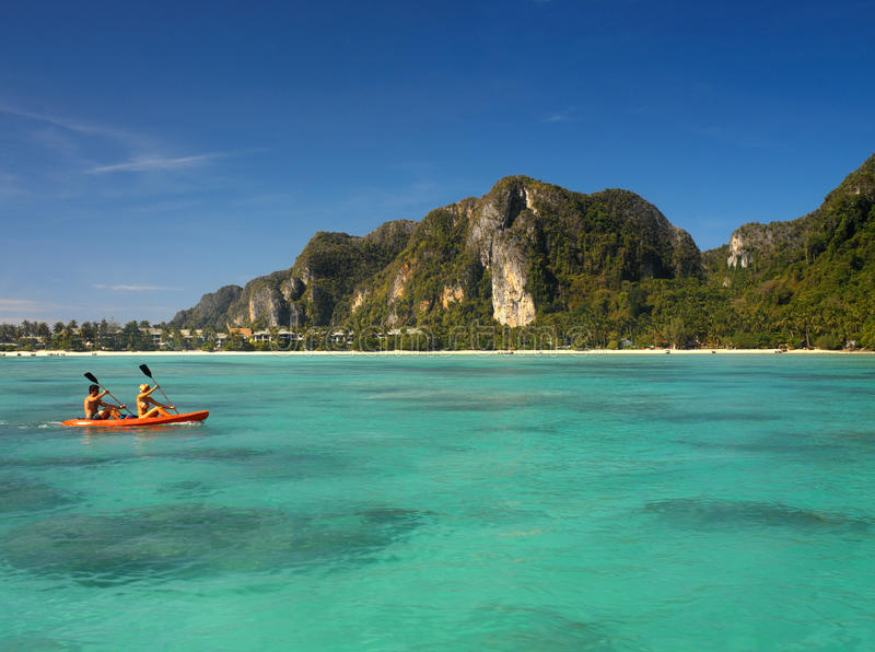 Île de phi de phi de Ko - Thaïlande images libres de droits