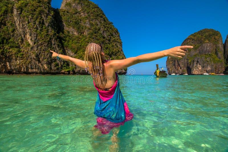 Île de Phi-Phi de compartiment de Maya photos libres de droits