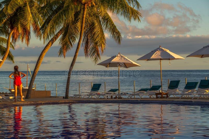Île de Praslin, Seychelles dans l'Océan Indien photos stock