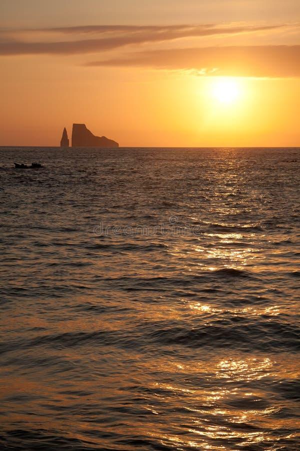 Île de roche de joueur, îles de Galapagos photos stock