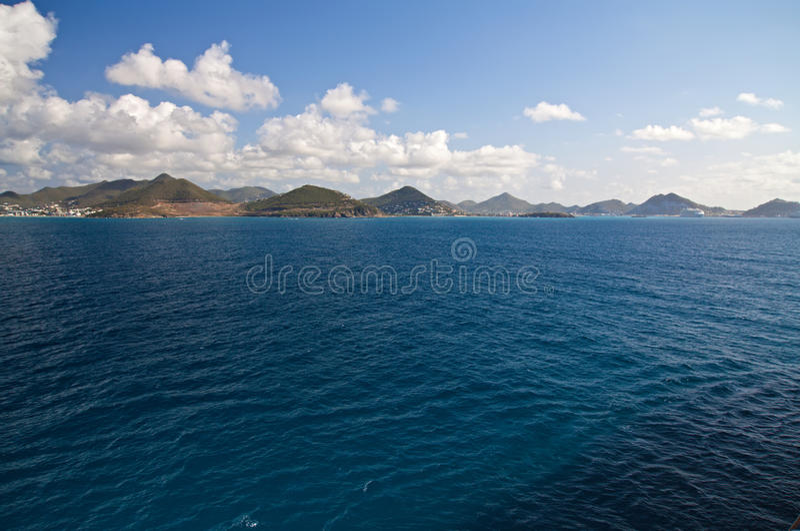 Île de rue Maarten, des Caraïbes images libres de droits