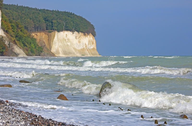 Île de Rugen, mer baltique, Allemagne photo stock