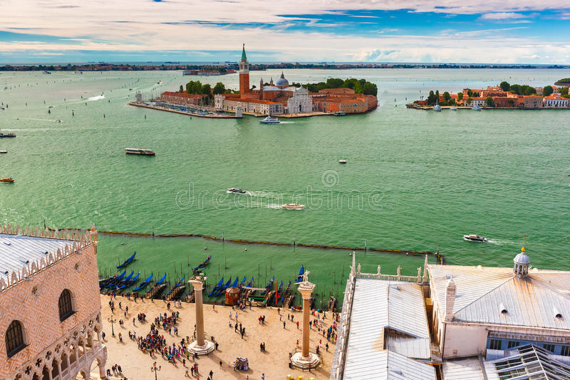 Île de San Giorgio Maggiore vers Venise, Italie image libre de droits
