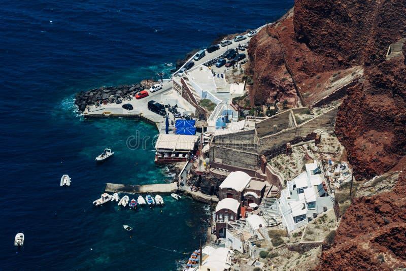 Île de Santorini en Grèce Vue panoramique Destination de touristes Été photographie stock
