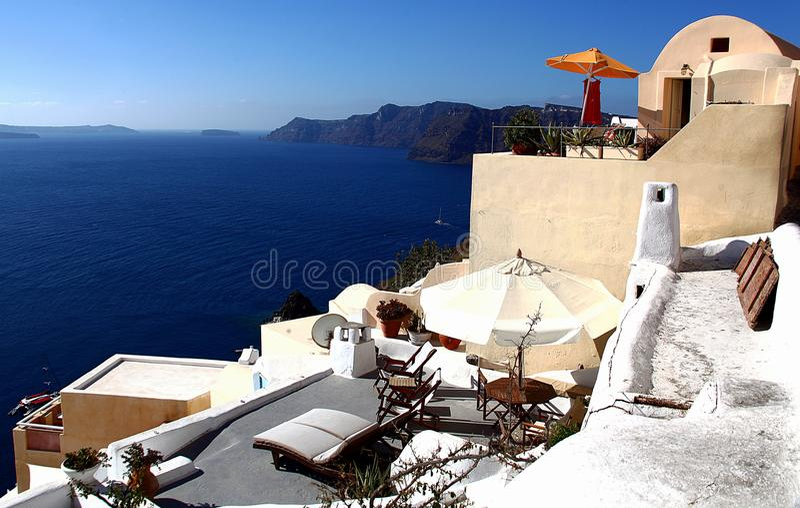 Île de Santorini, mer Égée, Grèce photos stock