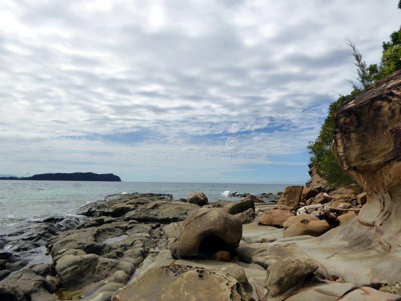 Île de Sapi en Tunku Abdul Rahman National Park images stock