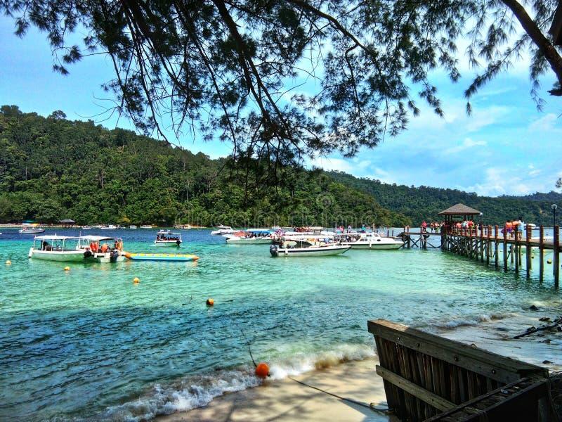 Île de Sapi, Sabah Malaysia photos libres de droits