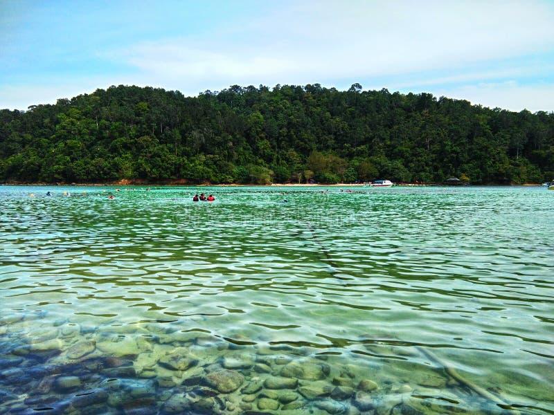 Île de Sapi, Sabah Malaysia image libre de droits