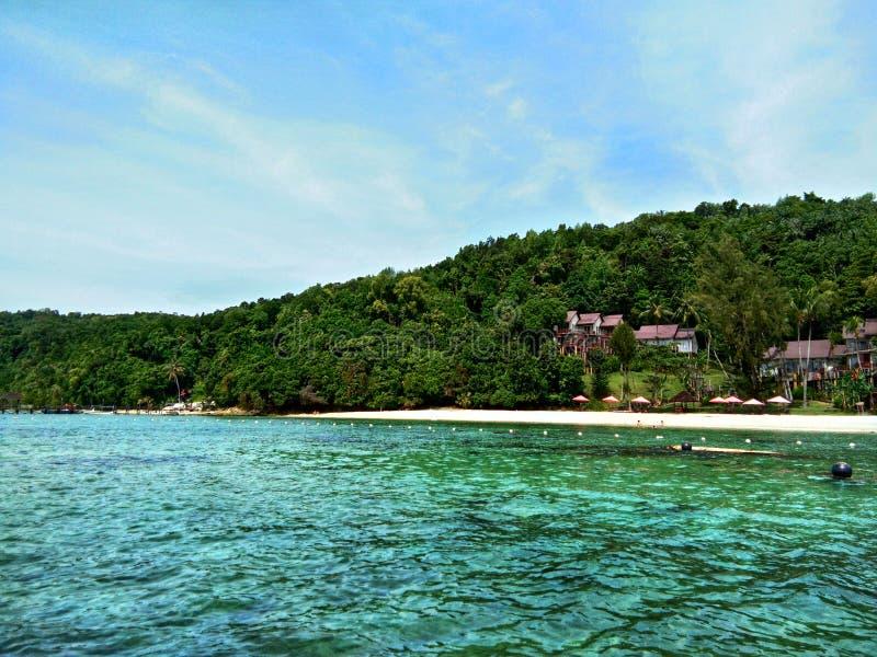 Île de Sapi, Sabah Malaysia image stock