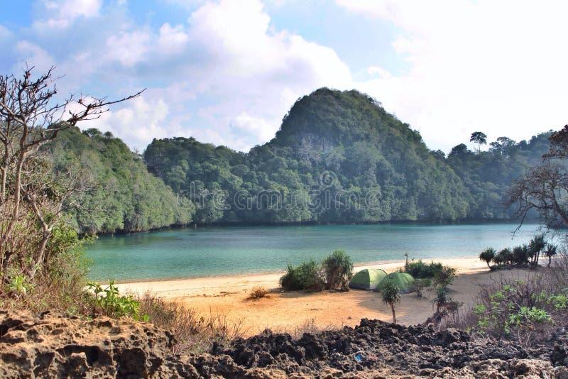 Île de Sempu image stock