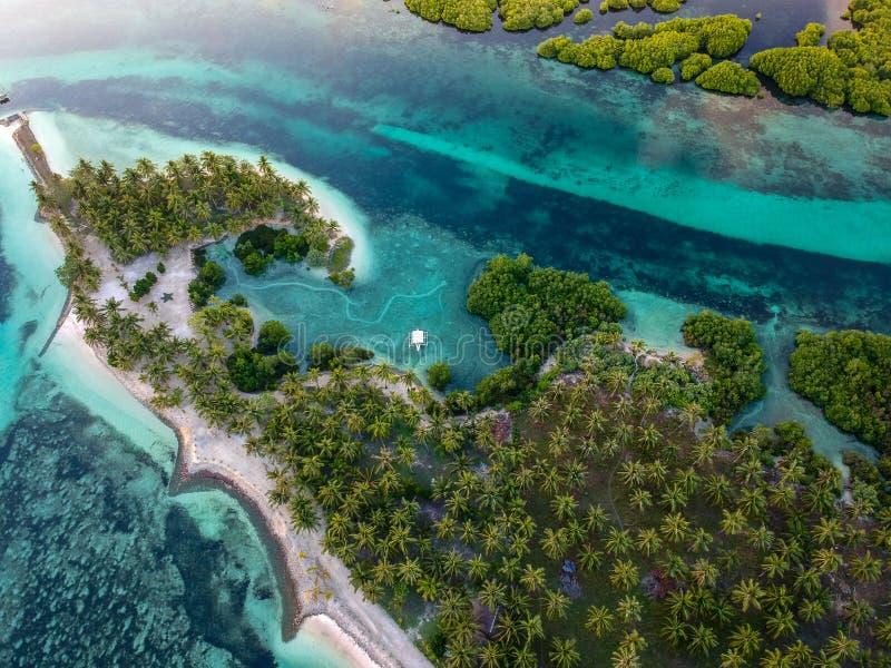 Île de Siargao de au-dessus - des Philippines image stock