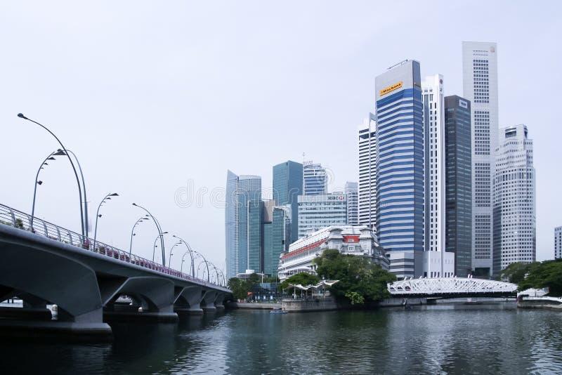 Île de Singapour d'hôtel de luxe de Fullerton images stock
