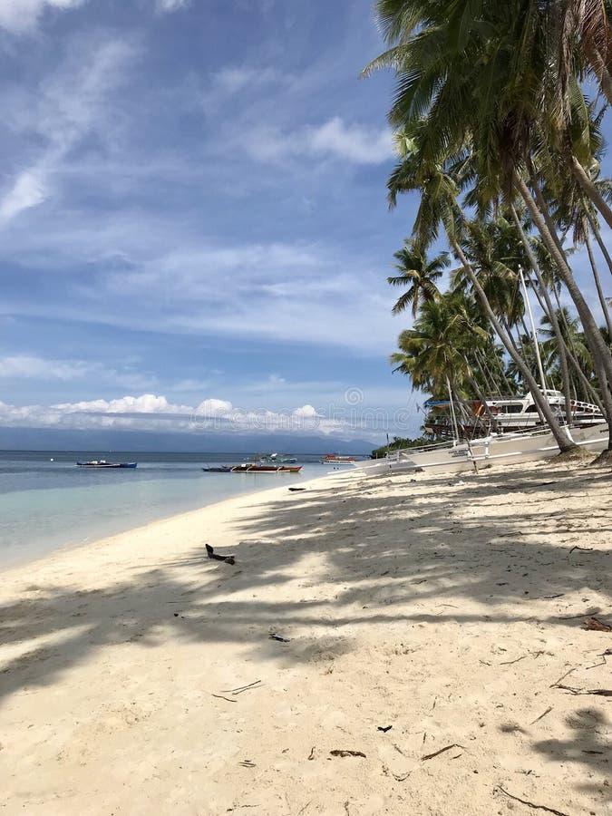 Île de siquijor de plage de Paliton photo stock