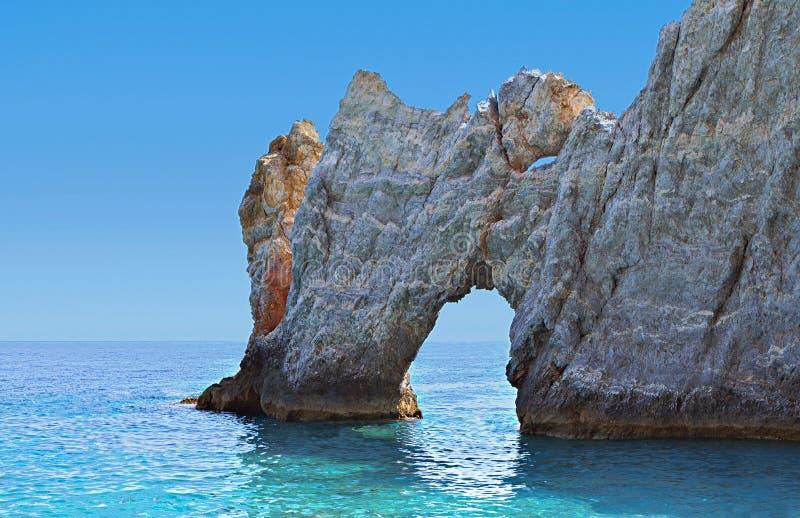 Île de Skiathos en Grèce. images libres de droits