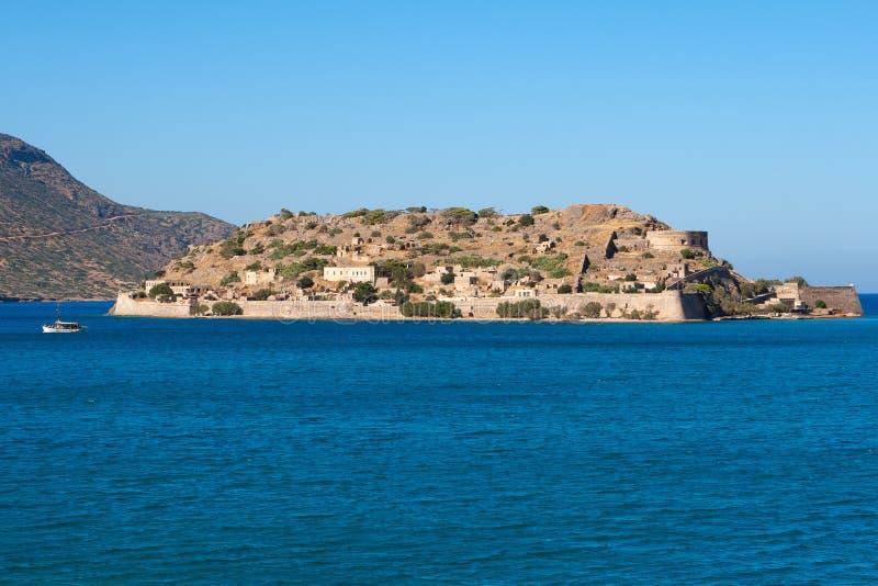 Île de Spinalonga. Crète, Grèce images libres de droits