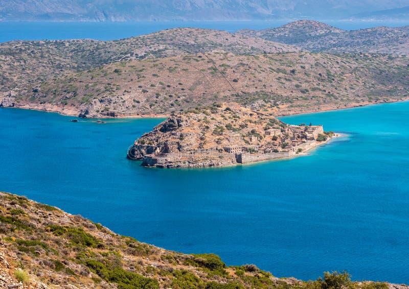 Île de Spinalonga, Crète, Grèce photographie stock libre de droits
