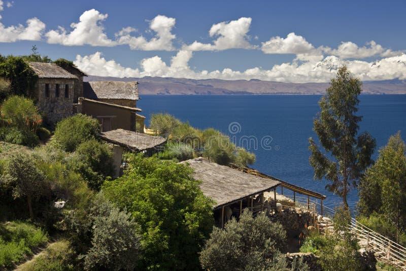 Île de Sun sur le Lac Titicaca - la Bolivie photographie stock