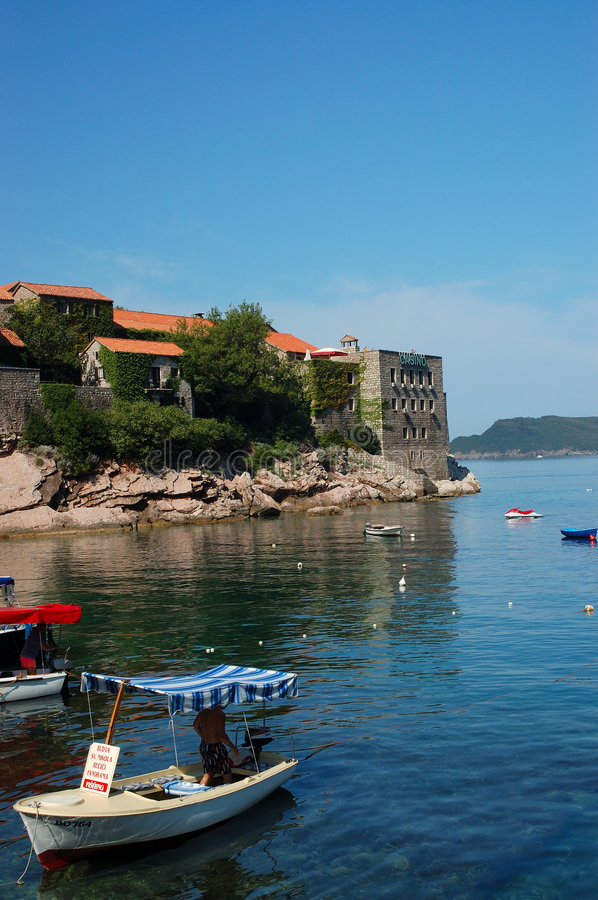 Île de Sveti Stefan/île Stefan de saint photo stock