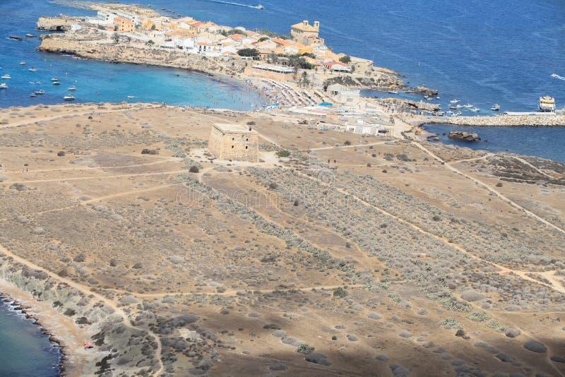 Île de Tabarca dans Alicante, Espagne photos stock