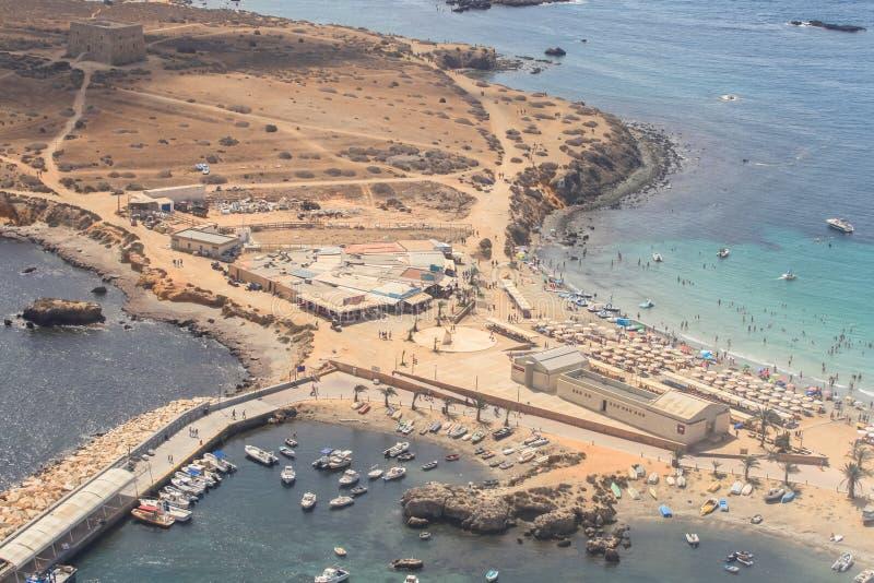 Île de Tabarca dans Alicante, Espagne images stock