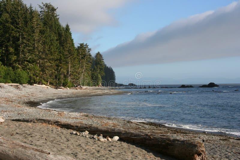 Île de Vancouver de vue de plage photographie stock