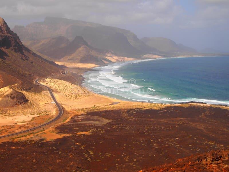Île de Vicente de sao, Cap Vert images libres de droits