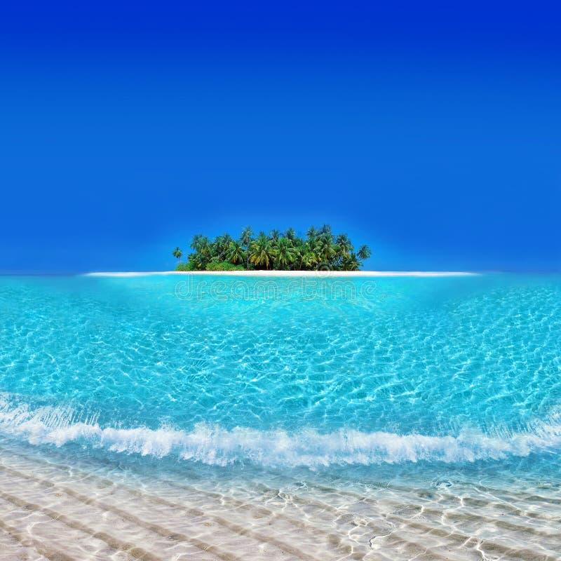 Île de Yacatan - ressource de vacances d'atoll images libres de droits